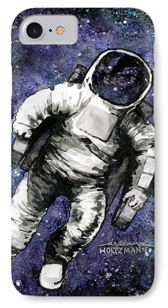 Spaaaaace IPhone Case by Arleana Holtzmann