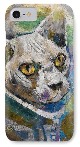 Space Cat IPhone Case by Michael Creese