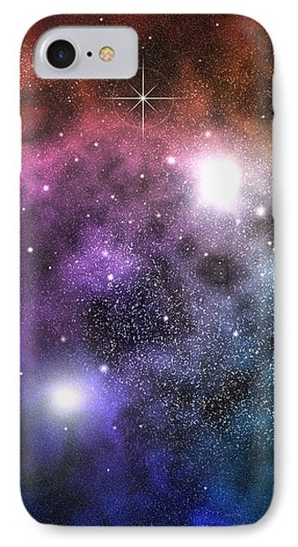 IPhone Case featuring the digital art Space Clouds by Phil Perkins