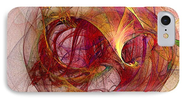 Space Demand Abstract Art IPhone Case by Karin Kuhlmann