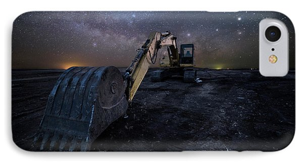 IPhone Case featuring the photograph Space Excavator  by Aaron J Groen