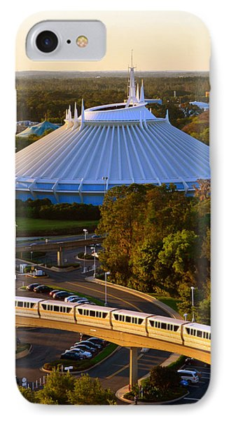 Space Mountain And Monorail Peach IPhone Case