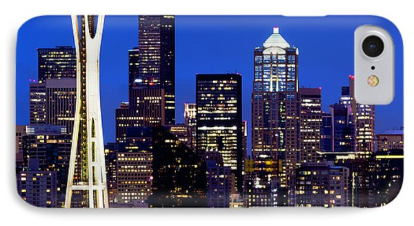 Space Needle At Night  IPhone Case
