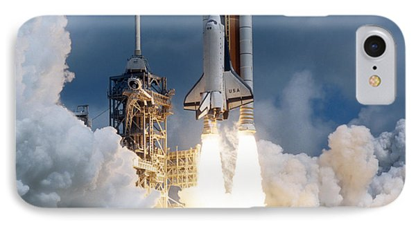 Space Shuttle Launching Phone Case by Stocktrek Images