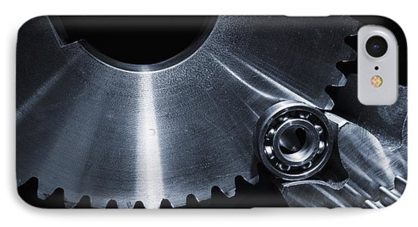 IPhone Case featuring the photograph Space Technology And Titanium Parts by Christian Lagereek