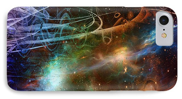IPhone Case featuring the digital art Space Time Continuum by Linda Sannuti
