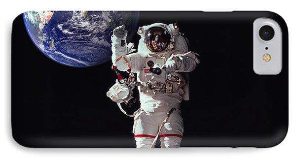 Spacewalk Earth IPhone Case by Daniel Hagerman