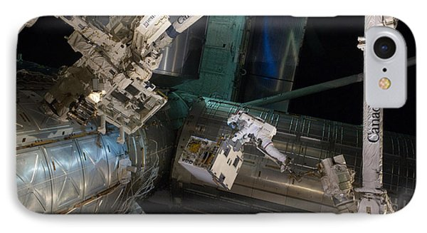 Spacewalk On Iss Phone Case by NASA/Science Source