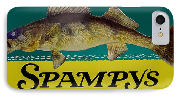 Spampys Bait And Tackle IPhone Case by Sign Art