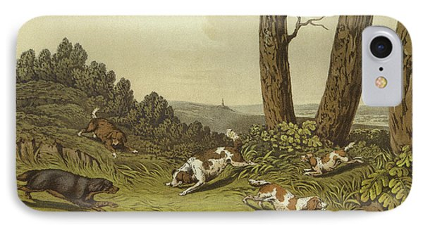 Spaniels IPhone Case by Henry Thomas Alken