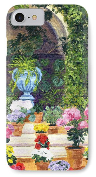 Spanish Courtyard IPhone Case by Lynne Reichhart