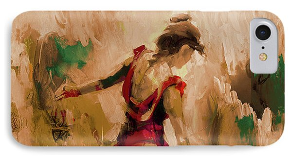 IPhone Case featuring the painting Spanish Dance Culture  by Gull G