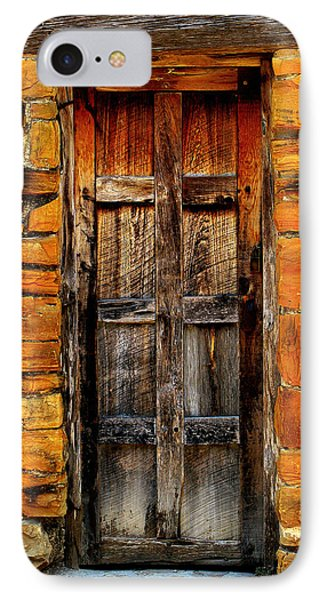 Spanish Mission Door IPhone Case by Perry Webster