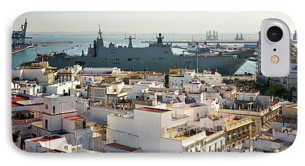 IPhone Case featuring the photograph Spanish Navy Ship Juan Carlos I Cadiz Spain by Pablo Avanzini