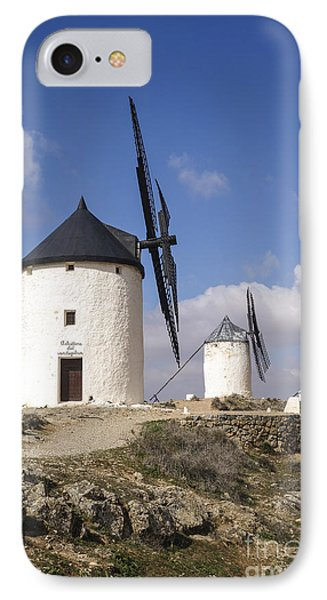 Spanish Windmills In The Province Of Toledo, IPhone Case by Perry Van Munster