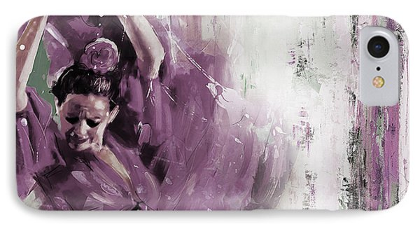 IPhone Case featuring the painting Spanish Woman Dance  by Gull G