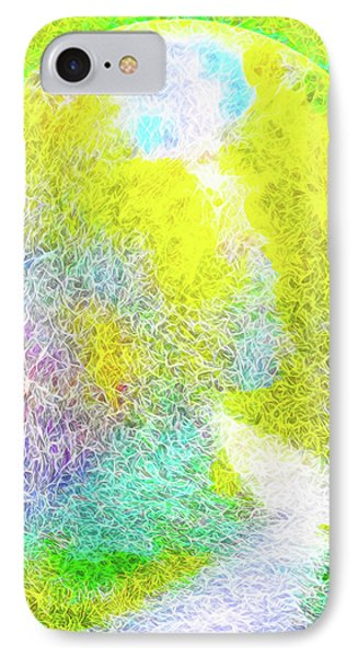 IPhone Case featuring the digital art Sparkling Pathway - Trail In Santa Monica Mountains by Joel Bruce Wallach