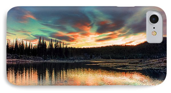 Sparks Lake Hues IPhone Case by Tyra OBryant