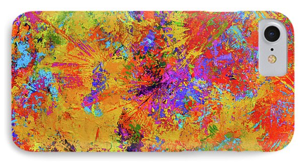 Sparks Of Consciousness Modern Abstract Painting IPhone Case