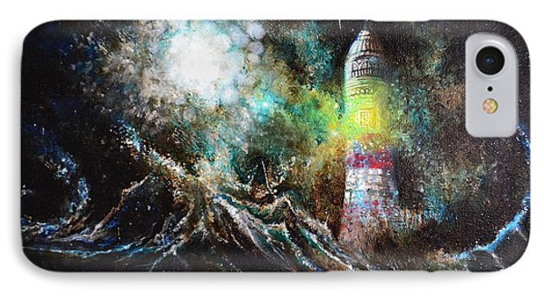 IPhone Case featuring the painting Sparks - The Storm At The Start by Sandro Ramani
