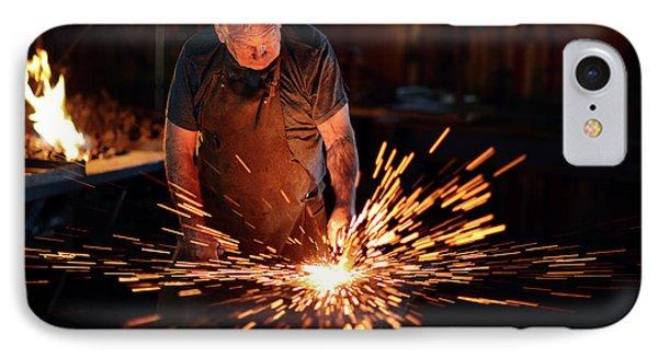 Sparks When Blacksmith Hit Hot Iron IPhone Case