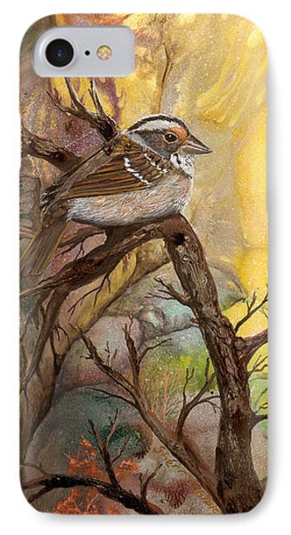 IPhone Case featuring the painting Sparrow by Sherry Shipley