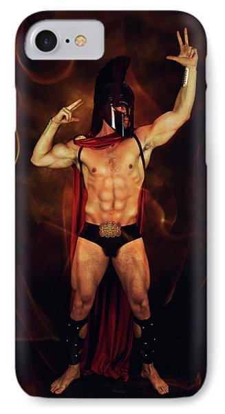 Sparta Mike  IPhone Case by Mark Ashkenazi