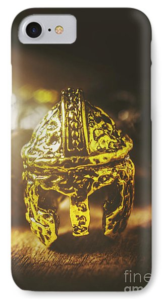 Spartan Military Helmet IPhone Case by Jorgo Photography - Wall Art Gallery