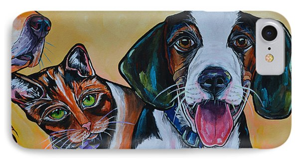 IPhone Case featuring the painting Spay And Neuter by Patti Schermerhorn