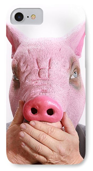 Speak No Swine Flu Phone Case by Michael Ledray