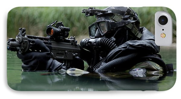 Special Forces Combat Diver Takes Phone Case by Tom Weber