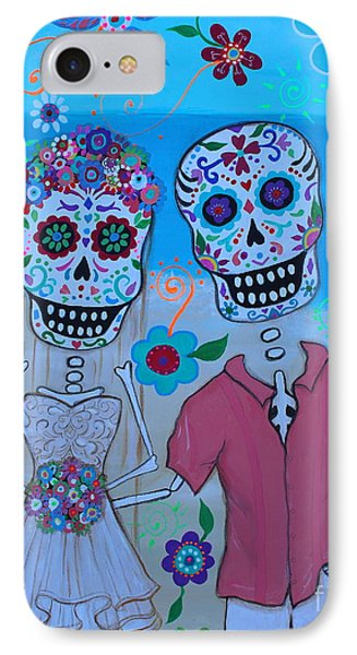 IPhone Case featuring the painting Special Mexican Wedding by Pristine Cartera Turkus