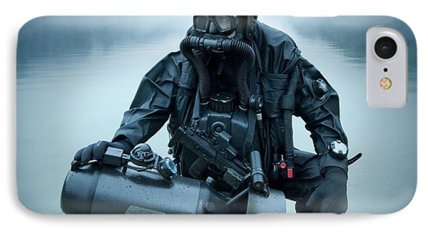 Special Operations Forces Combat Diver Phone Case by Tom Weber