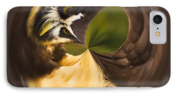 IPhone Case featuring the photograph Spectacled Owl Orb by Bill Barber