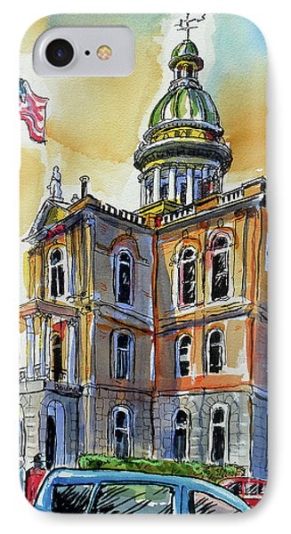 IPhone Case featuring the painting Spectacular Courthouse by Terry Banderas