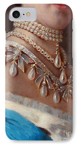 Historical Fashion, Royal Jewels On Empress Of Russia, Detail IPhone Case