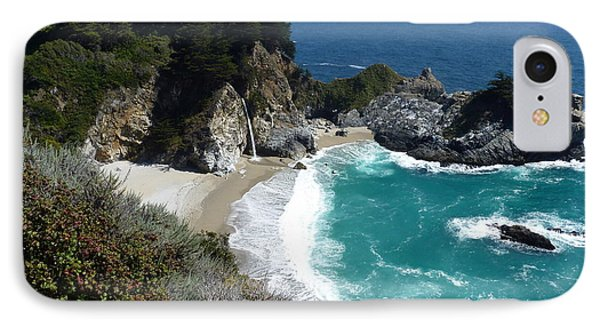 Spectacular Mcway Falls In Julia Pfeiffer Burns State Park IPhone Case
