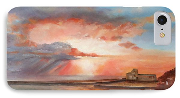 IPhone Case featuring the painting Spectacular On Folkestone Harbour by Beatrice Cloake
