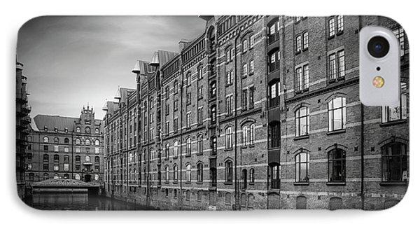 Speicherstadt Hamburg Germany In Black And White IPhone Case