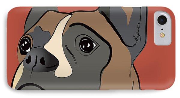 Spencer Boxer Dog Portrait IPhone Case