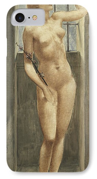 Spes, Or Hope In Prison IPhone Case by Edward Coley Burne-Jones