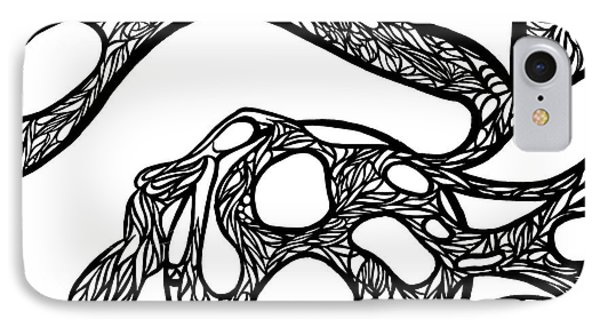 IPhone Case featuring the drawing Sphere by Jamie Lynn