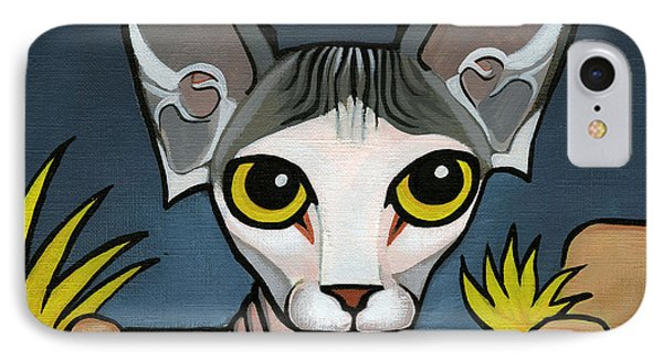 Sphinx Cat Phone Case by Leanne Wilkes