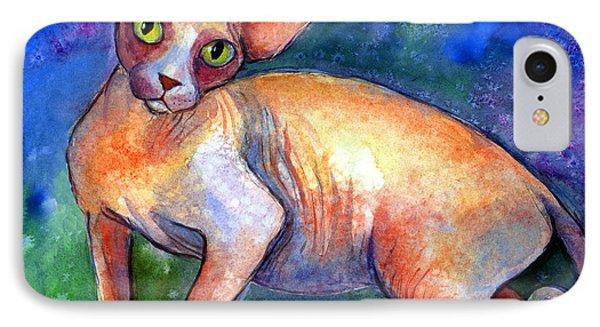 Sphynx Cat 4 Painting IPhone Case by Svetlana Novikova