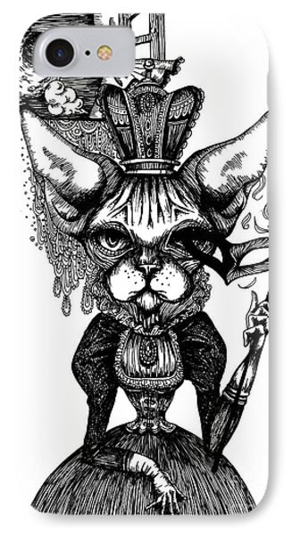 Sphynx Queen IPhone Case by Akiko Okabe