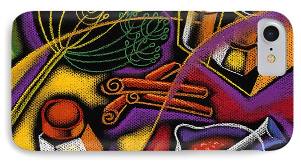 Spice Art IPhone Case by Leon Zernitsky