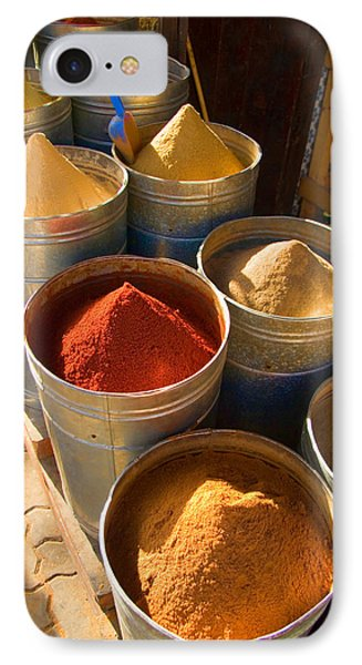 Spices In Marrakesh Morroco IPhone Case by David Smith