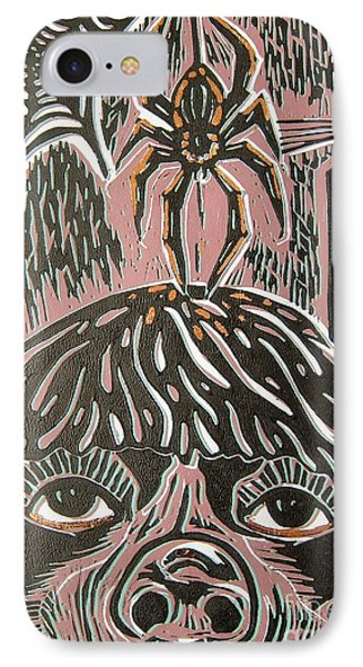 Spider Fear IPhone Case by Susan Riha Parsley