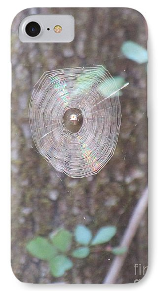 IPhone Case featuring the photograph Spider In The Round by Marie Neder