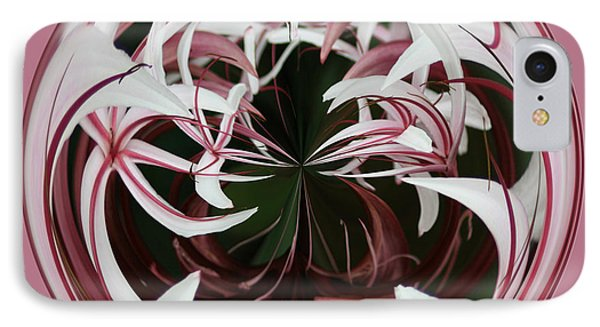 IPhone Case featuring the photograph Spider Lily Orb by Bill Barber